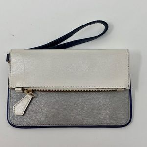 Alberta Di Canio Leather Foldover Wristlet Bag